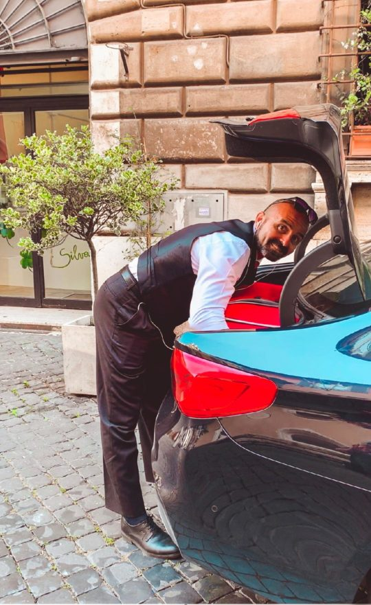 Our private driver Ricardo in Rome, Italy